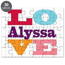 I Love Alyssa Puzzle