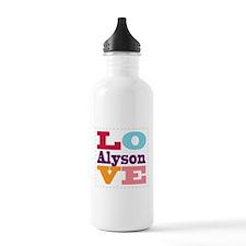 I Love Alyson Water Bottle