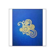 "Bombay Blue Square Sticker 3"" x 3"""