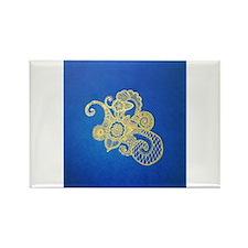 Bombay Blue Rectangle Magnet