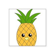 "Pineapple Square Sticker 3"" x 3"""