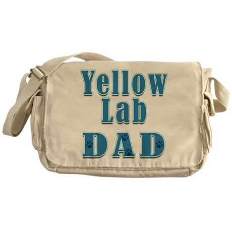 Yellow Lab Dad Messenger Bag
