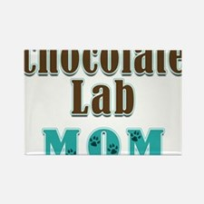Chocolate Lab Mom Colors Rectangle Magnet