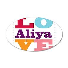I Love Aliya Wall Decal