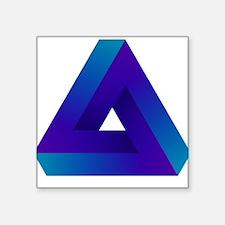 """Optical illusion triangle. Square Sticker 3"""" x 3"""""""