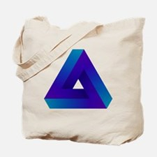 Optical illusion triangle. Tote Bag