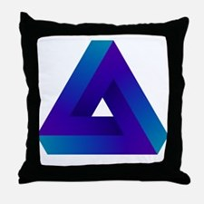 Optical illusion triangle. Throw Pillow