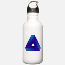 Optical illusion triangle. Water Bottle