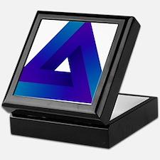 Optical illusion triangle. Keepsake Box