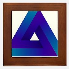 Optical illusion triangle. Framed Tile
