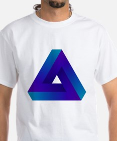 Optical illusion triangle. Shirt