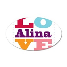 I Love Alina 20x12 Oval Wall Decal