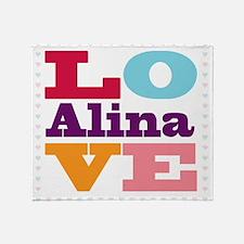I Love Alina Throw Blanket
