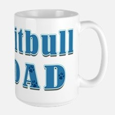 Pitbull Dad Large Mug