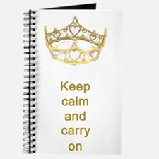 Keep calm and carry on Hearts Crown Journal