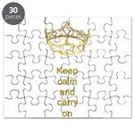Keep calm and carry on Hearts Crown Puzzle
