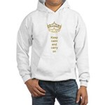 Keep calm and carry on Hearts Crown Hooded Sweatsh