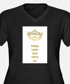 Keep calm and carry on Hearts Crown Women's Plus S