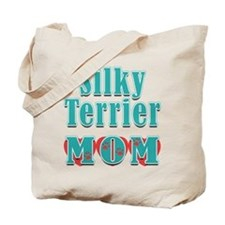 Silky Terrier Mom Hearts Tote Bag