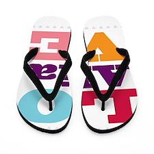 I Love Alia Flip Flops