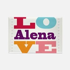 I Love Alena Rectangle Magnet