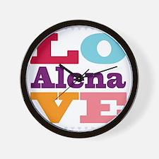 I Love Alena Wall Clock