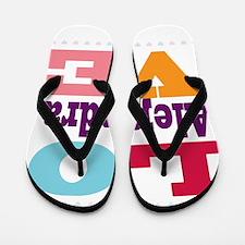 I Love Alejandra Flip Flops