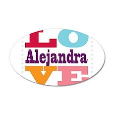 I Love Alejandra 20x12 Oval Wall Decal