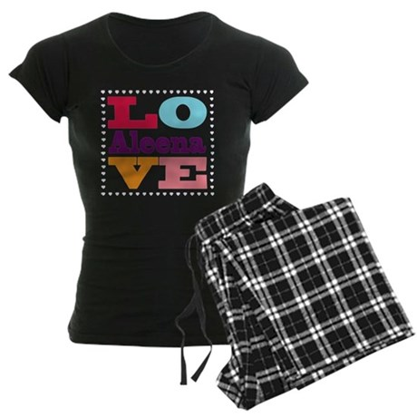 I Love Aleena Women's Dark Pajamas