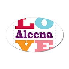 I Love Aleena Wall Decal