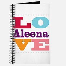 I Love Aleena Journal