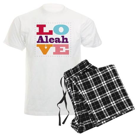 I Love Aleah Men's Light Pajamas