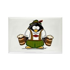 Oktoberfest Boy Penguin Rectangle Magnet