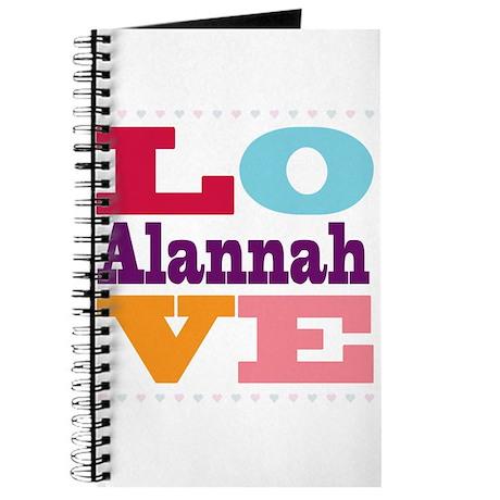 I Love Alannah Journal