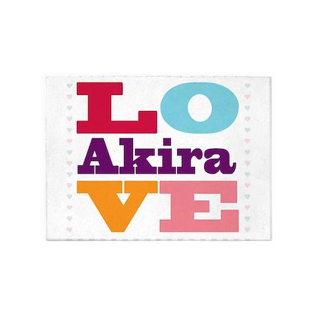 I Love Akira 5'x7'Area Rug