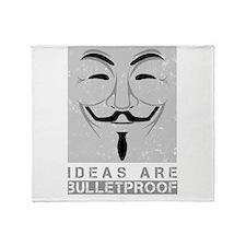 Ideas are bulletproof Throw Blanket