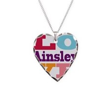 I Love Ainsley Necklace Heart Charm