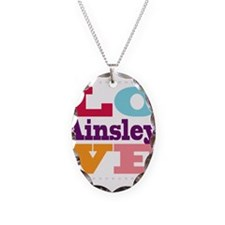I Love Ainsley Necklace Oval Charm