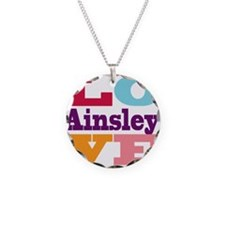 I Love Ainsley Necklace Circle Charm