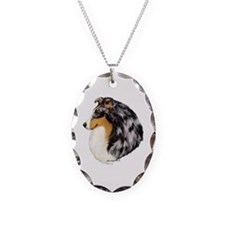 Blue Merle Shetland Sheepdog Necklace