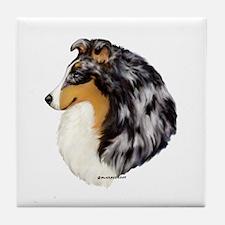 Blue Merle Shetland Sheepdog Tile Coaster