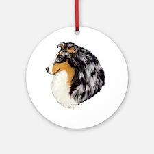 Blue Merle Shetland Sheepdog Ornament (Round)