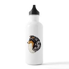 Blue Merle Shetland Sheepdog Water Bottle