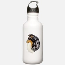 Blue Merle Shetland Sheepdog Water Bottle