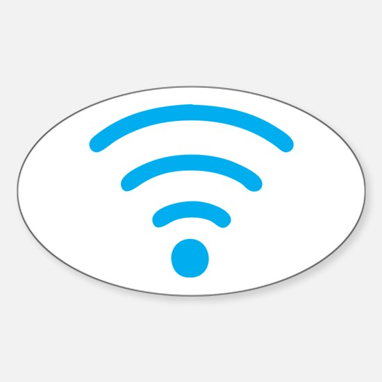 FREE Wireless Internet Sticker (Oval)
