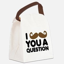 I Mustache You A Question Canvas Lunch Bag