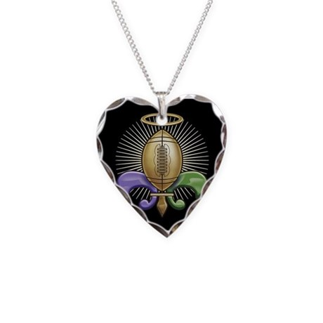 Heavenly Trophy Heart Charm Necklace