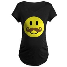 Mustache Smiley Face T-Shirt