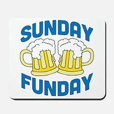 Sunday Funday Drinking Shirt Mousepad