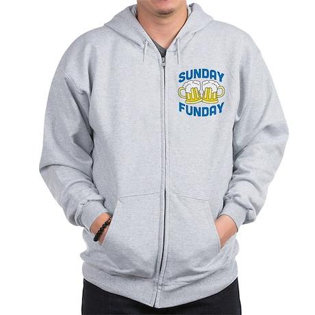 Sunday Funday Drinking Shirt Zip Hoodie